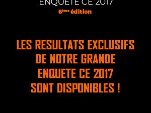 Consultez les résultats exclusifs de l'enquête CE 2017